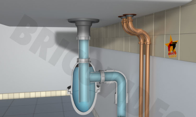 Réparer une fuite d'eau sur vidange et siphon