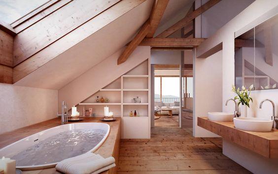 5 conseils pour bien aménager une salle de bain sous les combles