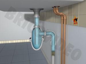 Réparer fuite d'eau du siphon