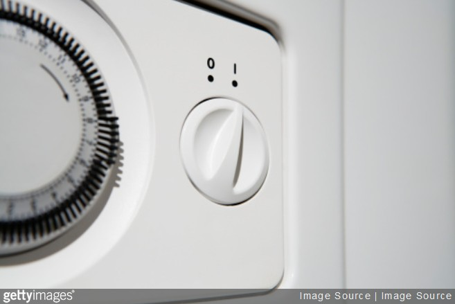 bouton chauffe eau